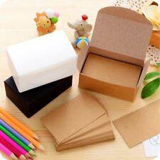 100pcs Double-sided Blank Kraft Paper Business Cards