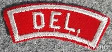 Boy Scout Red White Strip RWS/R&W - State Delaware - DEL. - BSA