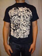 Marvel Comics Hulk, Thor, Iron Man Collage Blue Shirt Size Youth Large