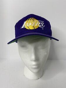 Vintage Los Angeles Lakers Snapback Hat NBA Cap OG Late 80s Early 90s