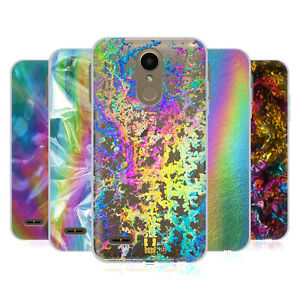 HEAD CASE DESIGNS OIL SLICK PRINTS SOFT GEL CASE & WALLPAPER FOR LG PHONES 1