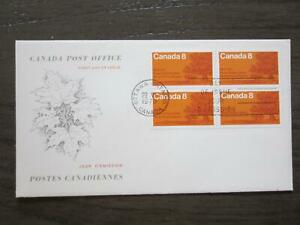 Replacement first day cover # 818  Block of 4, Oak Trees on Shore