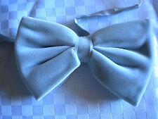 Herren Jungen Knaben Samt Fliege Krawatte grau silber Orig vintage neuwertig OVP