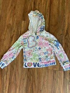 Disney Parks Kids Youth Size XS Unisex Mickey Mouse Zip Up Hoodie Sweatshirt MM