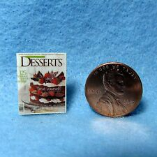 Dollhouse Miniature Replica of DESSERTS Magazine ~ Cover Only