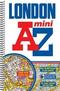 Mini London Street Atlas (London Street Atlases) - Spiral-bound - VERY GOOD