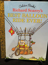 Best Balloon Ride Ever! Richard Scarry HB 1997 First 'A' Little Golden Storybook