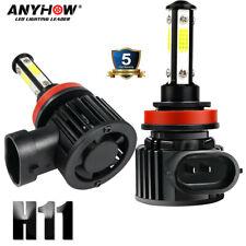 2PCS 4-Sides H11 H8 H9 COB LED Headlight Bulb Foglight Hi/Lo Beam 6000K 120W Kit