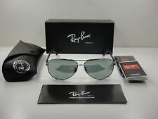 RAY-BAN TECH POLARIZED SUNGLASSES RB8313 004/K6 GUNMETAL/SILVER MIRROR 58MM NEW