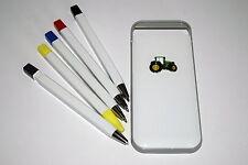 John Deere Green Tractor Pens/pencil/highlighter Fun gift idea NEW! Farming