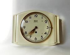 Vintage Art Deco style 1940s Ceramic Kitchen Wall clock GARANT Schwebe-Anker Mad