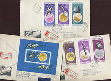 HUNGARY 1965 SPACE RESEARCH SET + SHEET on ILL.REG.FDCs