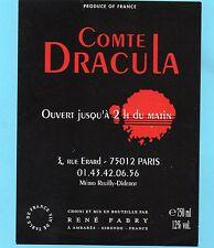 ETIQUETTE SPECIALE COMTE DE DRACULA 3 RUE ERARD PARIS §19/05/16§