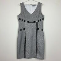 Pingpong Womens Black/White Sleeveless Lined Dress with Back Zipper Size 12