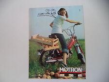 advertising Pubblicità 1977 MOTRON 50