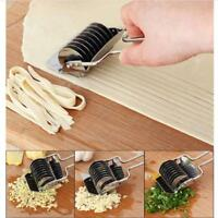 Stainless Steel Cutter Spaghett Noodle Maker Lattice Roller Docker Dough Tool DB