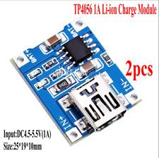 2pcs TP4056 1A Lithium Battery Li-ion Chrage Board Moudle Mini USB Input Voltage