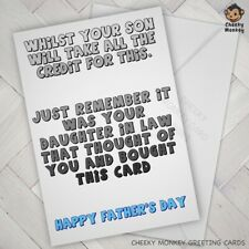 Funny for mum FATHERS DAY CARD Cheeky Joke Banter mom mother dad loser