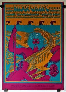 MOBY GRAPE Vintage 1967 Avalon Ballroom Original Concert Poster Moscoso FD 49-1