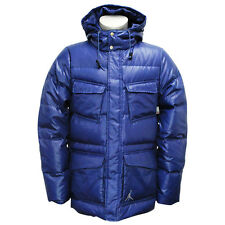 Nike Jordan Mens Military Duck Down Thermore 550 Padded Winter Coat Blue M