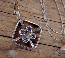 Kultaseppa Salovaara Sterling Silver Necklace Mid-Century Modern Pendant Finland