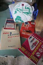 LOT de 5 codes de la route et prévention routière années 1950 vintage