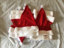 10 x Santa Red Plush Christmas Party Hat Holiday Costume Caps Nice Hats