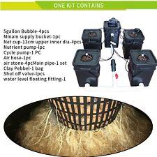 New listing Rdwc 5 Pots Cloner Growing Kit Dwc Recirculation System Cycle Pump Hydroponics