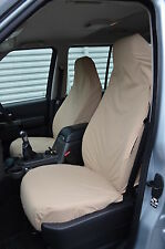 Land Rover Discovery 3 & 4 Front Pair Beige Tailored & Waterproof Seat Covers NA