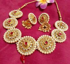 Padmavati Kundan Choker Necklace Set/Rajasthani Choker Necklace Earrings Set