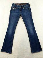 Rock Revival Celine Womens Jeans Size 26 Modelo Distressed Low Rise 26X30 Flaps