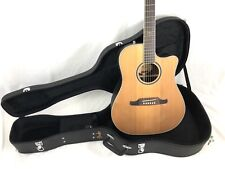 Fender F-1030SCE Cutaway Dreadnought Acoustic-Electric Guitar Natural w/Case