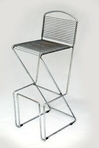 Barhocker Hocker Stuhl nach Till Behrens Schlubach Wire Chair Metall 80er