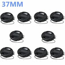 10pcs 37mm center pinch snap on Front Lens Cap Cover for Canon Nikon with string