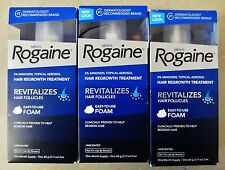 Rogaine MEN Foam 3 Month Supply Easy Use Foam Hair Regrowth Treatment 01/2019