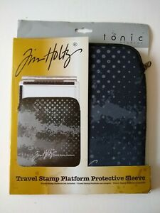 Tim Holtz Travel Stamp Platform Protective Sleeve - Lightweight Neoprene Fabric