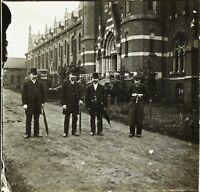 Snapshot Mode Habits Hommes ca 1910, Photo Stereo Plaque Verre VR2L12n12