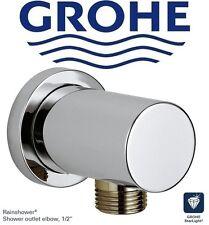 """Grohe Rainshower 27057000 shower outlet elbow 1/2"""" in StarLight Chrome FinishNIB"""