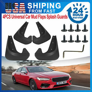 4X Car Mud Flaps Splash Guards Fender Front /Rear Universal Fit Auto Accessories