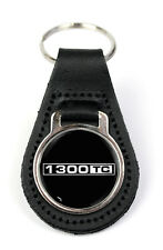 Triumph 1300 TC Logo Quality Black Leather Keyring