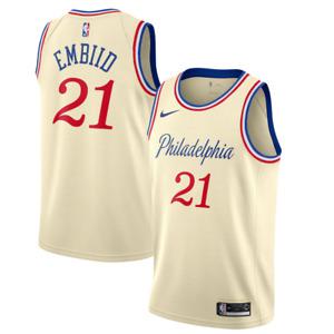 Philadelphia 76ers Jersey Men's Nike NBA City Jersey - Embiid 21 - New