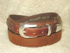 ORVIS MEN'S RANGER BELT 5591 BROWN OIL TANNED LEATHER SIZE 36 Made in the USA