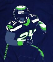 MARSHAWN LYNCH *Beast Mode* CUSTOM SEAHAWKS SHIRT *MANY OPTIONS*