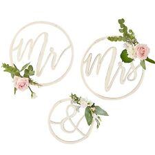 Mr & Mrs Wooden Hoops, Wedding Signs, Wedding Venue Decoration