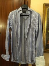 HACKETT CAMISA SHIRT Talla 41 100's 2Ply Cotton  Puño Gemelo Original