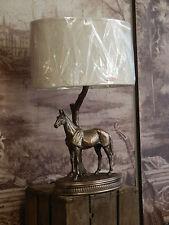 Fabulous Freddo Gettare Bronzo Cavallo in Piedi Lampada Da Tavolo Luce Con Ombra