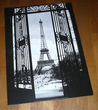 Affiche poster ville Paris Tour Eiffel illuminée vue du ciel  70028644