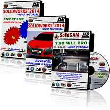 SOLIDCAM 2.5D Mill & SOLIDWORKS 2014-2015 Video Tutorial Training Course DVDs