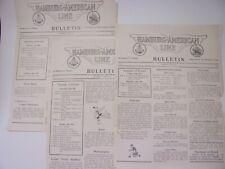 1936 Hamburg America, S.S. Hansa, Independence Day Weekend Cruise, 3 Bulletins