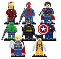 Legoings 8pcs/lot Marvel The Avengers Thor Captain Ironman Wolverine Batman toys